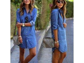 Dámské džínové šaty