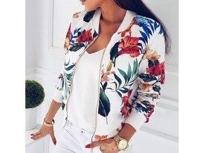 Dámská elegantní bunda s jarními květinovými vzory
