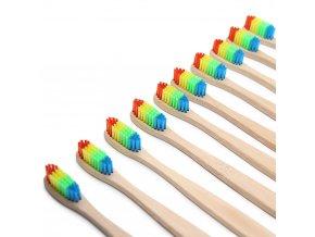 Zubní kartáček s bambusovou rukojetí