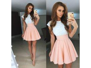Dámské letní šaty Beth (barva světle růžová, Velikost XL)