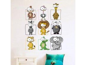 Zvířata - samolepka na zeď