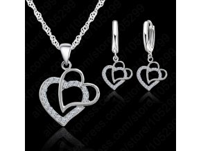 New Arrival Double Heart 925 Sterling Silver Jewelry Sets Austrian Crystal Set Women Pendant Jewelry Set.jpg 640x640