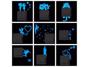 Blue light Luminous Switch Sticker Home Decor Cartoon Glowing Wall Stickers Dark Glow Decoration Sticker Cat.jpg 640x640