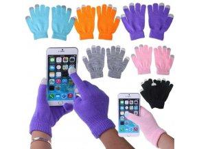 Zimní dotykové rukavice na mobilní telefony
