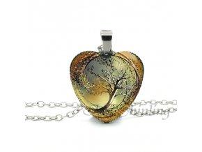 Dámský náhrdelník divergentní srdce