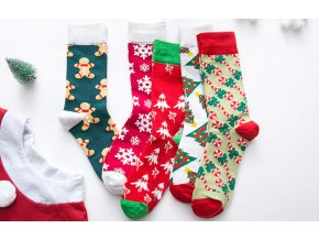 Ponožky se zimními motivy