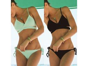 Dámské dvoudílné plavky NICOLE (barva Zelená, Velikost L)