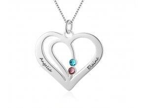 dámský náhrdelník s volitelnými jmény