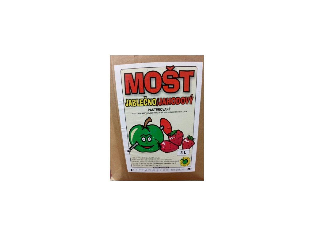 Mošt jablečno-jahodový 3 l