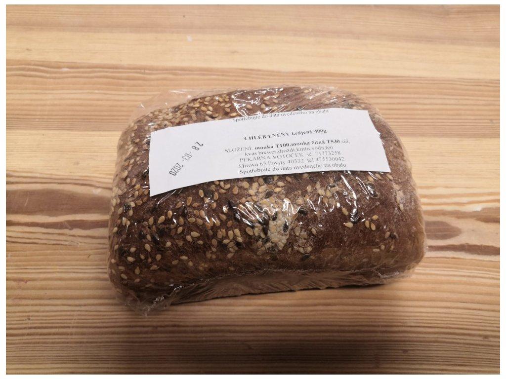 Chléb lněný 400g (pekárna Povrly)