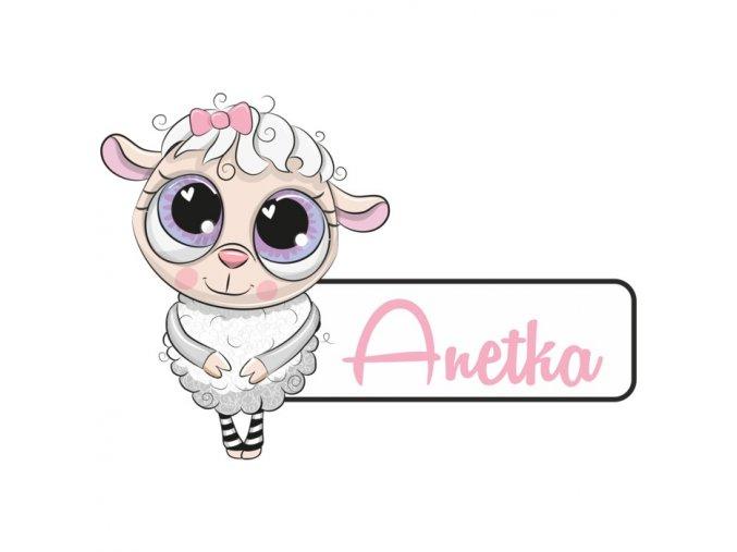 Jmenovka ovečka