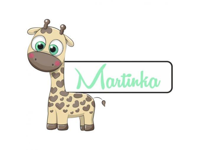 Jmenovka žirafka