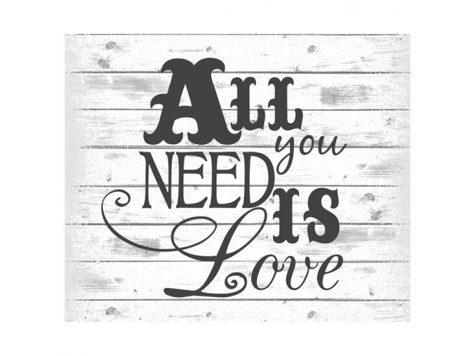 Cedulka All You Need Is Love