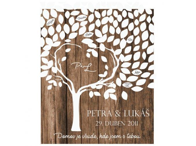 Svatební cedulka - Vzpomínkový strom