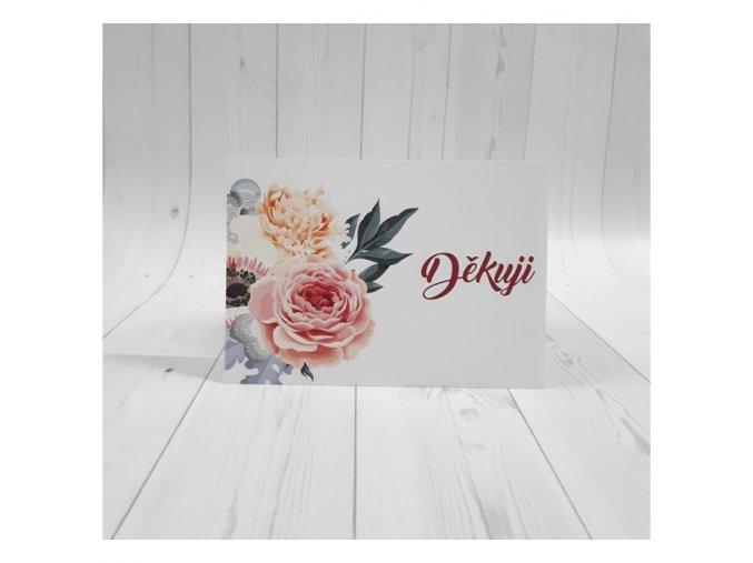Děkuji karta_květiny