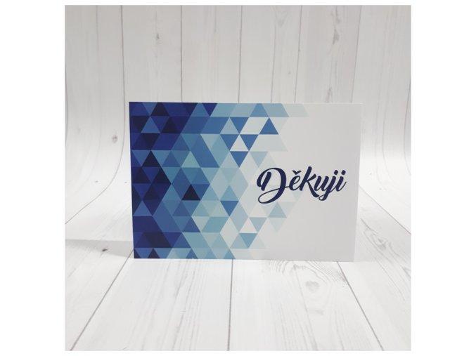 Děkuji karta_modrá