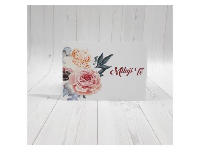 Miluji Tě karta_květiny