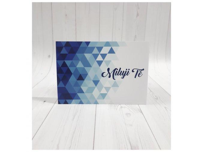 Miluji Tě karta_modrá