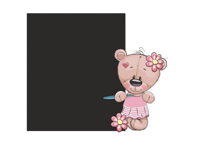 Tabule méďa holčička