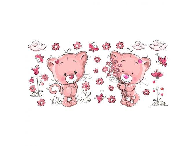 Růžové kočičky