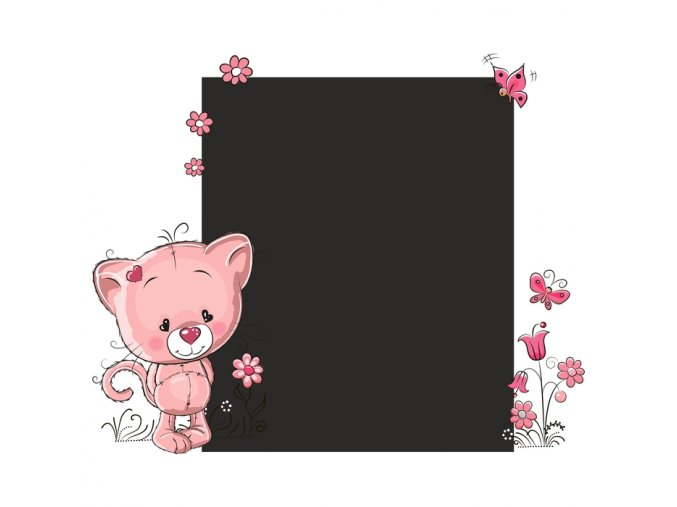 Tabule kočička růžová