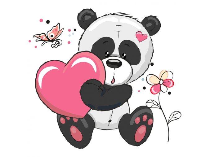 Panda se srdcem