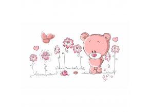 Růžový medvídek