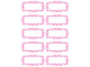 Etikety růžové