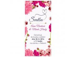 Svatební pozvánka květiny