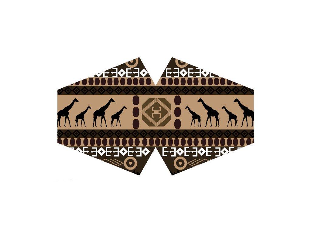 Ochranné rúškor- Africký tribal