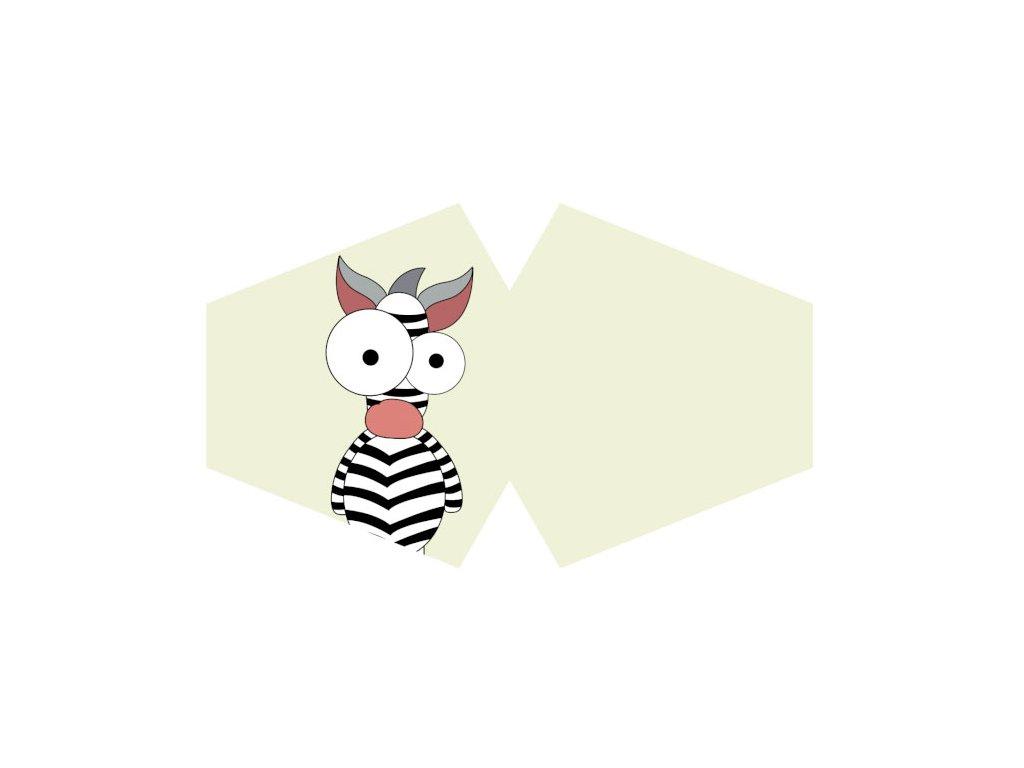 Ochranné rúško - Šialená zebra