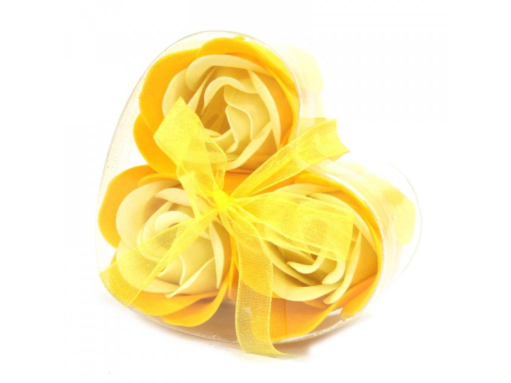 Sada 3 mydlových kvetov - Jarná ruža