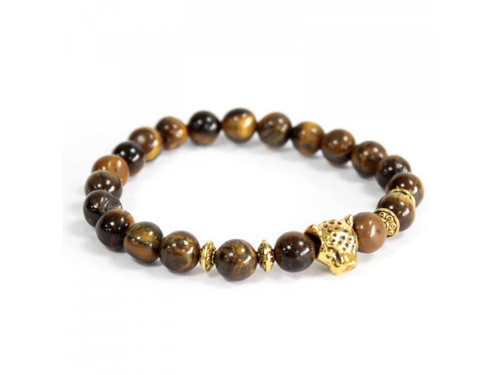Zlatý tiger/ Tigrie oko - Náramky z drahých kameňov