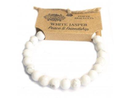 Energický náramok - Jaspis biely