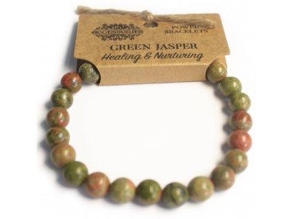 Energický náramok - Jaspis zelený