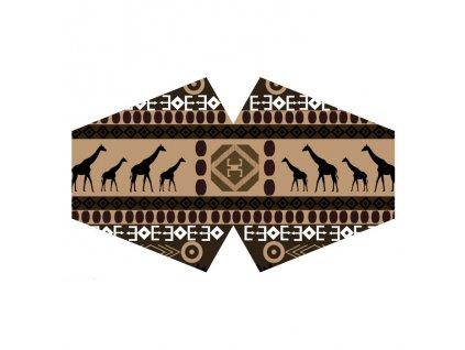Ochranné rúško - Africký tribal