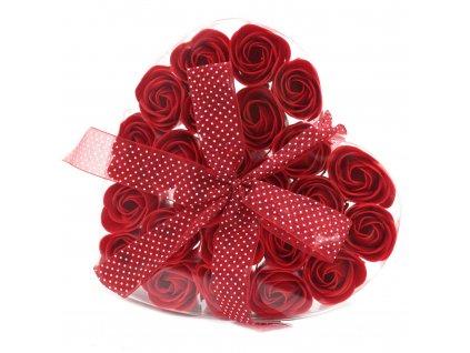 Sada 24 mydlových kvetov - Červená ruža