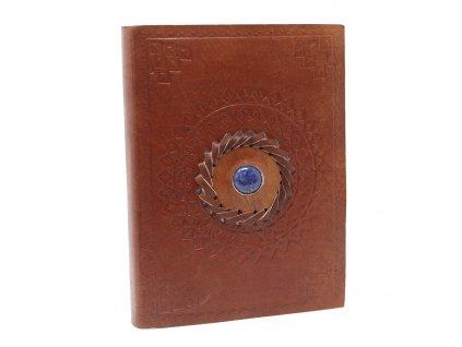Kožený zápisník - Lapis 17x12 cm