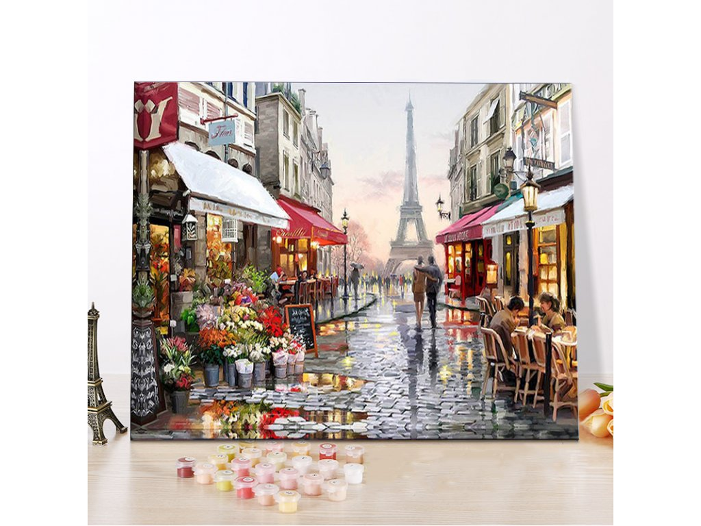 CHENISTORY DZ1009 Painting By Numbers Canvas Paris