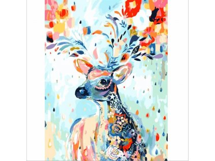 CHENISTORY DZ1137 Colored deer paint by numbers