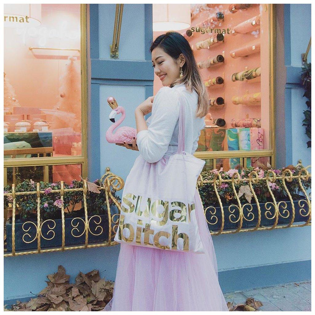 sugarmat tote bag pink/golden