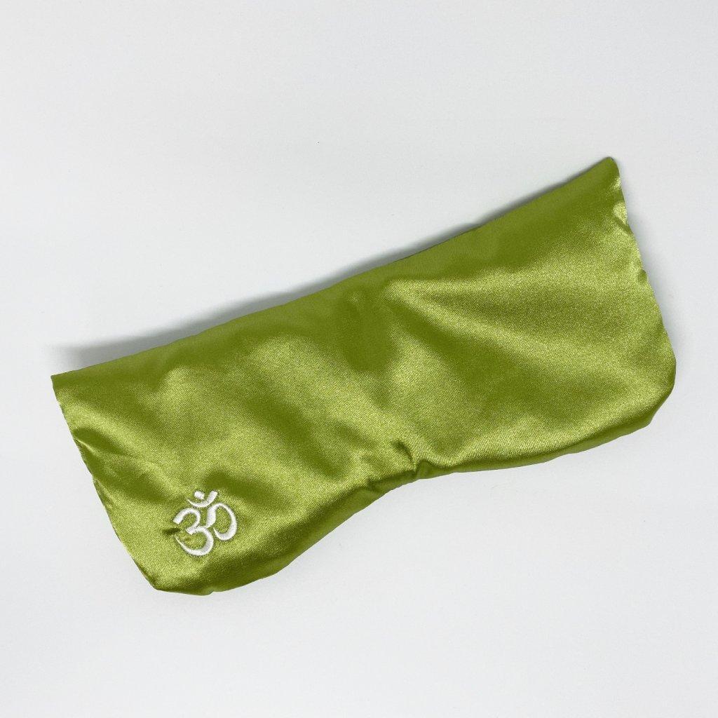 polštářek na oči zelený