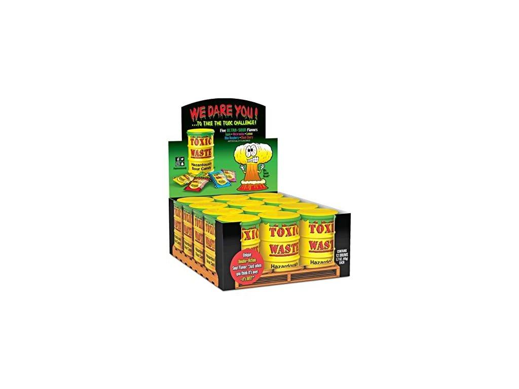 Toxic Waste Yellow Drum Extreme Sour Candy karton 12x 42g