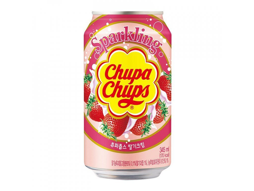 Chupa Chups Strawberry Cream Sparkling 345ml