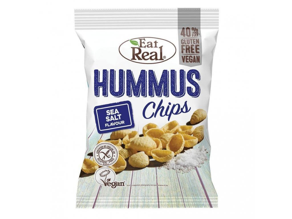 Eat Real Hummus Chips s mořskou solí 45g