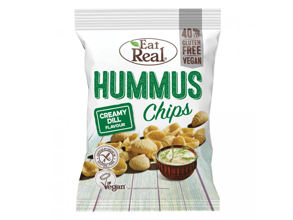 Eat Real Hummus Chips smetana kopr 45g