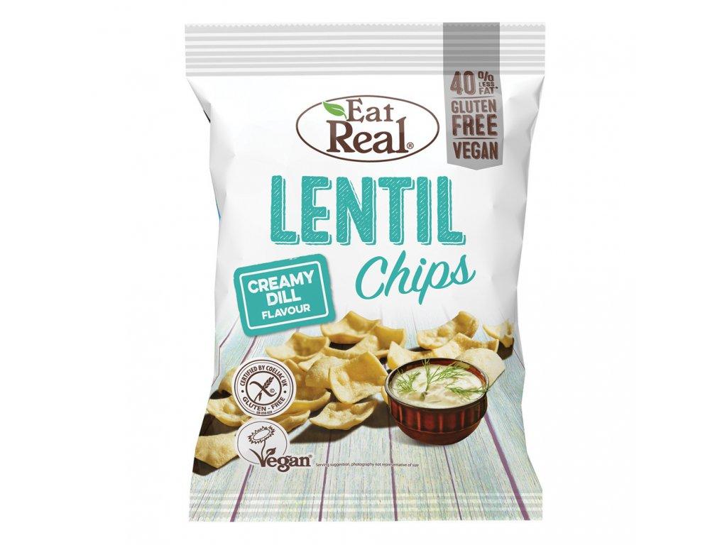 Eat Real Lentil Chips s krémovým koprem 40g