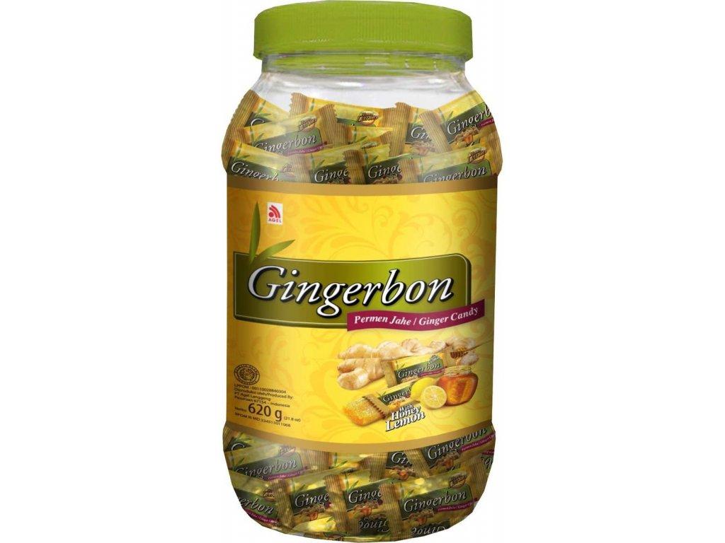 Stykra Gingerbon zázvorové bonbony s medem a citrónem 620g