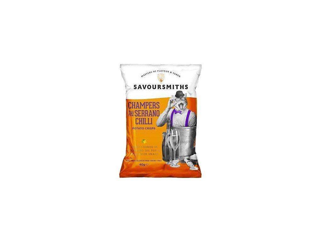 Savoursmiths Bubbly & Serrano Chilli bramborové lupínky 40g