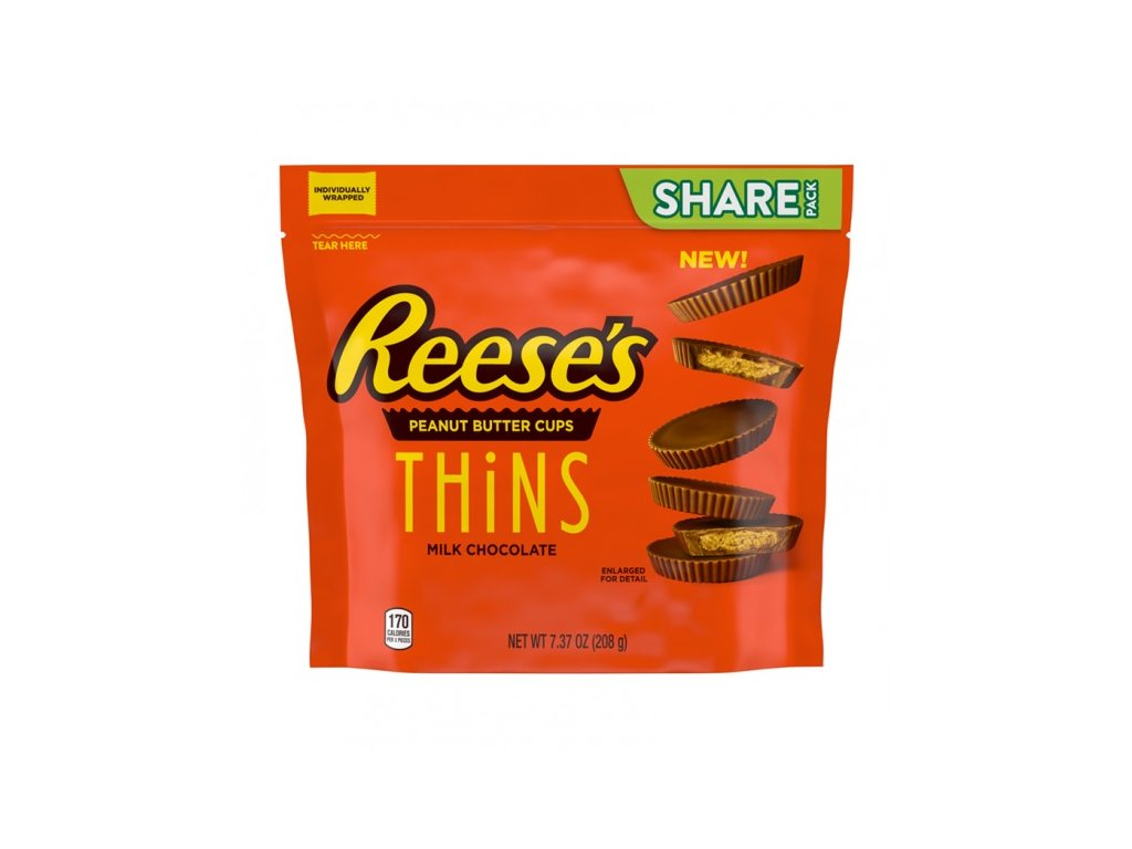 Reese's Peanut Butter Milk Chocolate Thins 208g